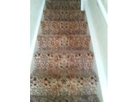 good condition stair and landing carpet 7.3 meters