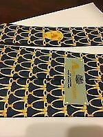 AQUASCUTUM 100% SILK TIE Blue & Golden Yellow SIGNATURE PRINT BNWT
