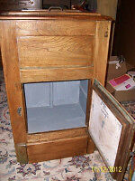 Antique solid wood icebox for sale London Ontario image 2