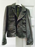 Girls 9-10yr (140cm) Next khaki jacket/blazer, good condition from pet and smoke free home