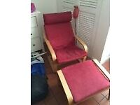 Free cover for ikea poang chair and headrest
