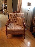 Fauteuil 4 places, fauteuil 1 place et rideaux assortis Lac-Saint-Jean Saguenay-Lac-Saint-Jean image 2