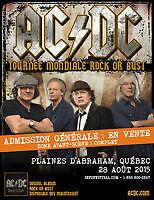 Billets AC/DC  Québec sur les plaines
