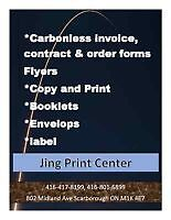 Carbonless invoices, contract form and order forms