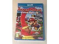 paper mario colour splash -new sealed wii u game
