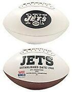 New York Jets Autographed Football