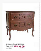 Brand New Bombay Company Provence Chest console accent table NEW