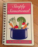 Simply Sensational cook book for sale