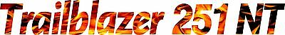 Miller Welder Trailblazer 251 Nt Decal Sticker - Set Of 2 - Flames