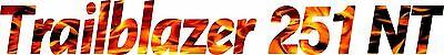 Miller Welder Trailblazer 251 Nt Decal Sticker - Set Of 2 - Flames