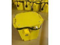230v /110v Used 5kva portable tool Transformer 2x 16 amp sockets and 1x 32 amp sockets