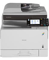 Ricoh MPC305SPF A4 colour b/w photocopier scanner fax, 31cpm