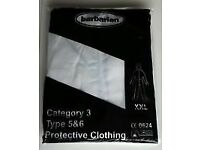 Hooded White Protective Coverall Disposable Size XXL Type 5&6 Category 3 (Box 50)