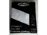 Hooded White protective coverall Type 5&6 Category 3 Size XXL £1 each