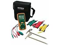 used EXTECH earth ground resistance tester