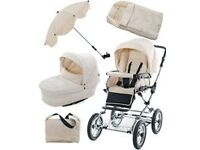 Babystyle Prestige Travel System in Cream Leather