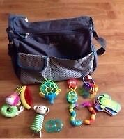 Graco Diaper Bag and Baby Toys