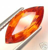 4.22CT TOP GEM VVS MANDARIN UNTREATED INTENSE REDDIEH ORANGE SPESSARTITE GARNET Intense Mandarin Orange