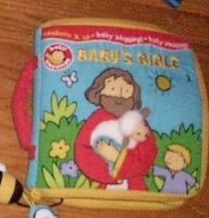 Fabric Baby bible story book for sale