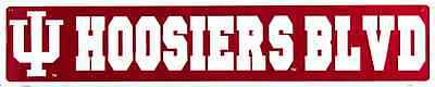 (INDIANA UNIVERSITY HOOSIERS METAL STREET SIGN 24