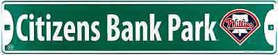 Philadelphia Phillies Street Sign 24  X 5  Embossed Metal Citizens Bank Park Mlb