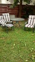 Small patio table and 3 chairs