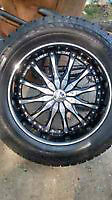 """SET OF FOUR 20"""" RIMS AND TIRES"""