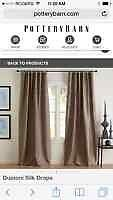 Pottery barn Dupioni silk drapes