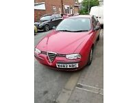 Alfa Romeo 156 for spares/repair runs and drives great still has MOT