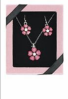 Pink Flower Necklace & Earring Set London Ontario image 1