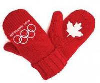 ORIGINAL 2010 VANCOUVER OLYMPIC RED MITTENS. . .NEW WITH TAG