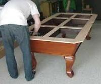 RELOCATE 4 X 8 POOL TABLE- FULLY INSURED -35 YEARS EXPERIENCE