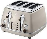 Cream 4 Slice Toaster