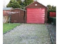 GARAGE, parking space and shed to rent £60.00 per week