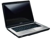 REFURBISHED WIN 7 TOSHIBA LAPTOP L300, CORE 2 DUO 2 GB DDR2 250 GB HDD, DVD RW FREE DELIVERY