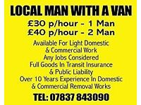 Removals - Man and Van Service