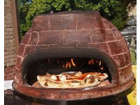 Mexican clay outdoor oven, as new, perfect condition