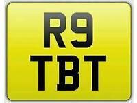 R9 TBT Cherished private registration number plate. BMW R9T Motorcyle reg