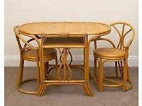 CANE TABLE 2 CHAIRS SET