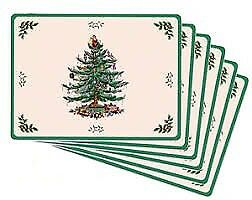 "Spode ""Christmas Tree"" Placemats"