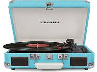 Crosley Cruiser Vinyl Turntable with Built-In Stereo Speakers - Turquoise
