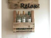 Handmade wine rack's