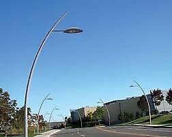 12 poteaux de lampadaires neuf