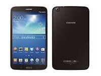 Samsung Galaxy Tab 3 8.0 SM-T310 Midnight Black 16gb Wifi flip Case / Stand