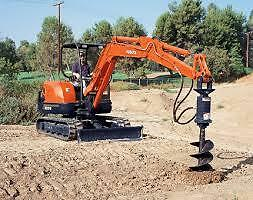 Mini Excavator with AUGER & Drill Bits Emerald Cardinia Area Preview
