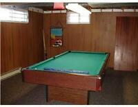 3 piece of slate top standard 8x4' pool table