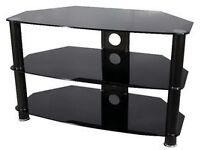 Vivanco TV Stand Black Glass