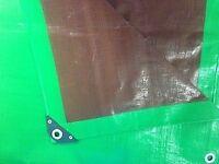 UV Protected Waterproof Green and Brown Heavy Duty Tarpaulin 250gsm