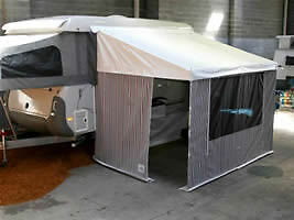 BAGGED CARAVAN ANNEXE AWNING INCLUDING GREY CANVAS WALLS+FLOOR RV CAMPER PARTS