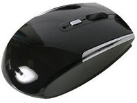 OPTICAL MOUSE WIRELESS PIANO BLACK WITH NANO USB TRANSMITTER - RF TYPE